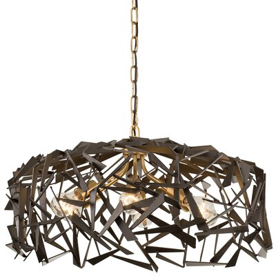 Bermuda 6-Light Foyer Pendant Finish: Antique Gold/Rustic Bronze
