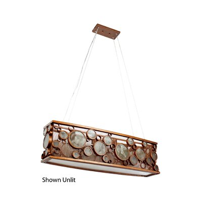 Fascination HO 4-Light Pendant Finish: Hammered Ore (Copper)