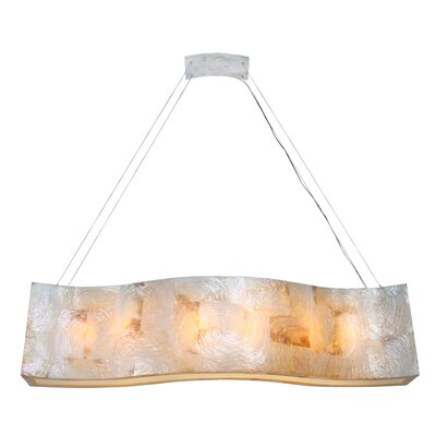 Big Linear 6-Light Pendant Finish: Kabebe