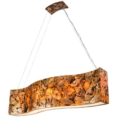 Big Linear 6-Light Pendant Finish: Chocolate Tiger