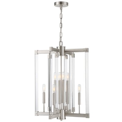 Halcyon 8-Light Mini Chandelier Finish: Satin Nickel