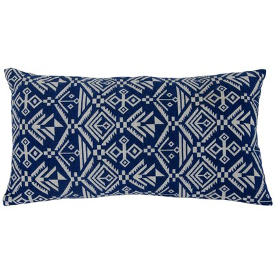 Casa Tribal Lumbar Pillow Color: Blue