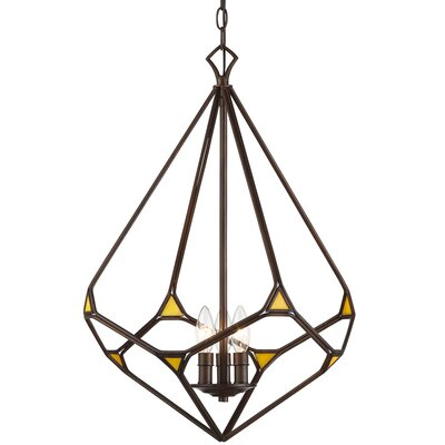 Gemma Stone 3-Light Foyer Pendant