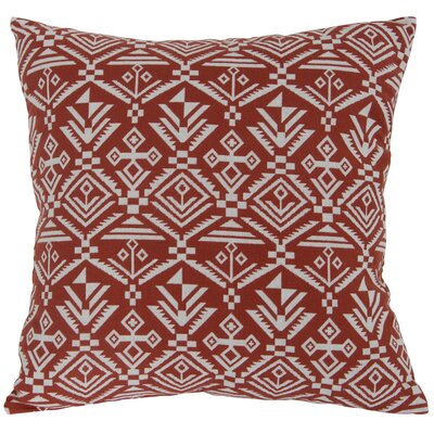 Casa Tribal Throw Pillow Color: Red