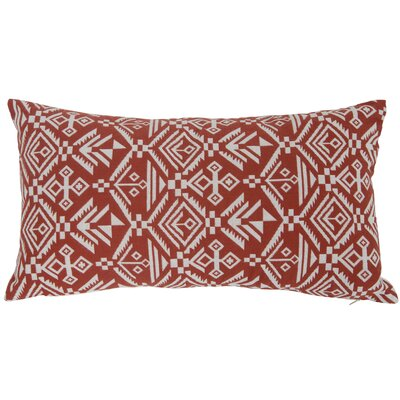 Casa Tribal Lumbar Pillow Color: Red