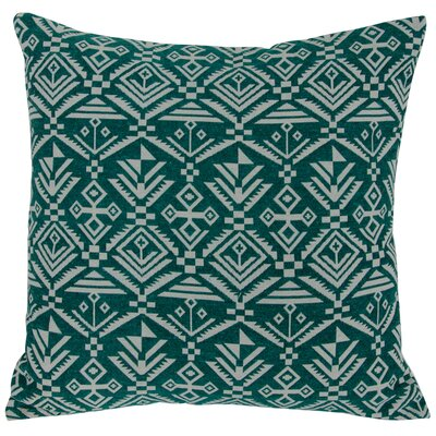 Casa Tribal Throw Pillow Color: Green