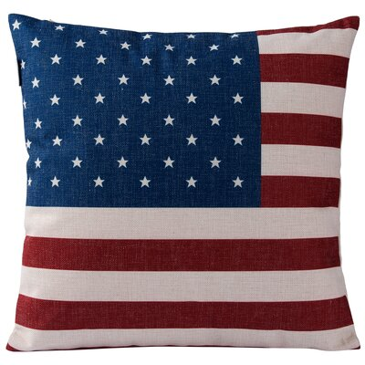 Casa American Flag Throw Pillow