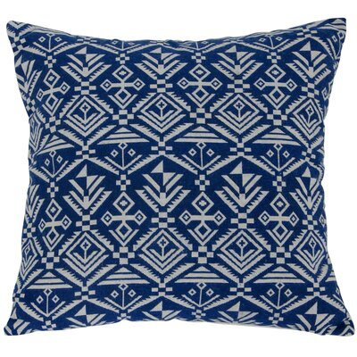 Casa Tribal Throw Pillow Color: Blue