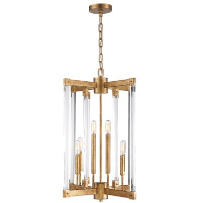 Halcyon 8-Light Mini Chandelier Finish: Antiqued Gold Leaf