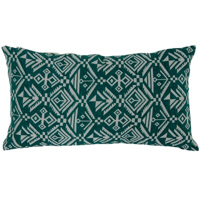 Casa Tribal Lumbar Pillow Color: Green