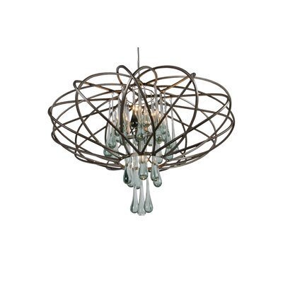 Area 51 5-Light Geometric Pendant Finish: New Bronze