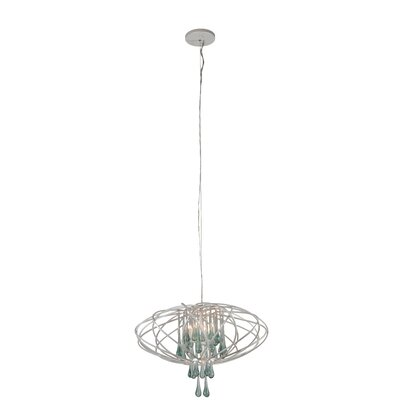 Area 51 5-Light Geometric Pendant Finish: Pearl