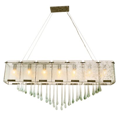 Rain Drops 7-Light Linear Pendant Finish: Rainy Night