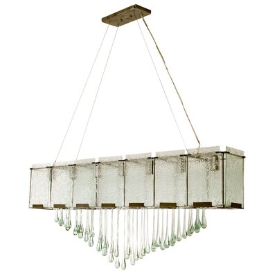 Recycled Rain 7-Light Kitchen Island Pendant Finish: Rainy Night