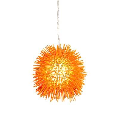 Urchin Mini Pendant in Electric Pumpkin