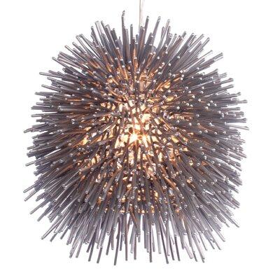 Urchin 1-Light Foyer Globe Pendant Size: 10 H x 9 W x 9 D, Finish: Chrome