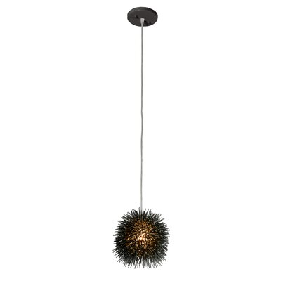 Urchin 1-Light Globe Pendant Finish: Black
