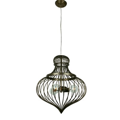 Clout 3-Light Flytrap Pendant Finish: New Bronze