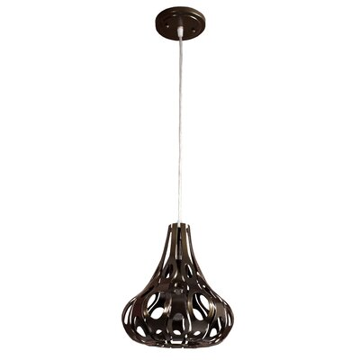 Masquerade Teardrop 1-Light Mini Pendant Finish: Statue Garden
