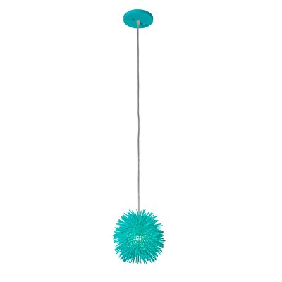 Urchin Uber 1-Light Mini Pendant Finish: Aqua Velvet