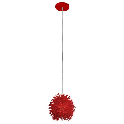 Urchin Uber 1-Light Mini Pendant Finish: Super Red