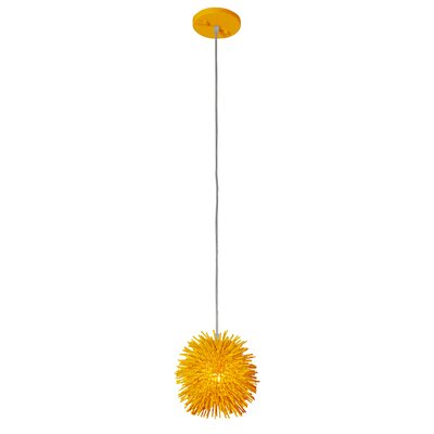 Urchin Uber 1-Light Mini Pendant Finish: Un-Mellow Yellow