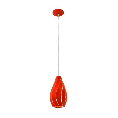Slatisfaction 1-Light Mini Pendant Finish: Radioactive Tangerine