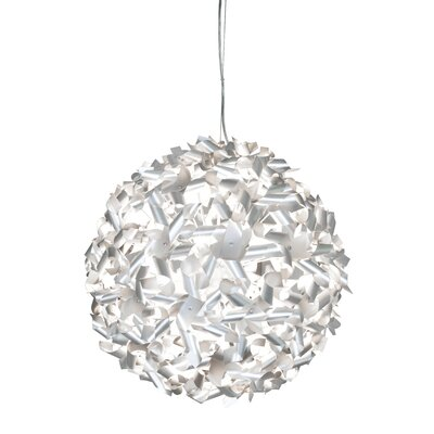 Varaluz Recycled Pinwheel Pendant Light - Medium Nine Light Chocolate Size: Small, Finish: Aluminum