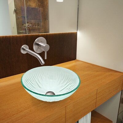 Icicles Glass Circular Vessel Bathroom Sink