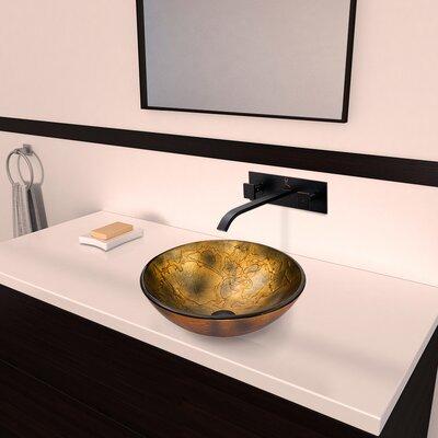 Copper Shapes Glass Circular Vessel Bathroom Sink