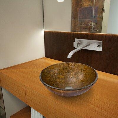 Textured Copper Glass Circular Vessel Bathroom Sink