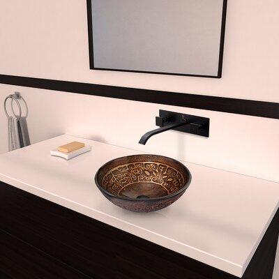Greek Glass Circular Vessel Bathroom Sink