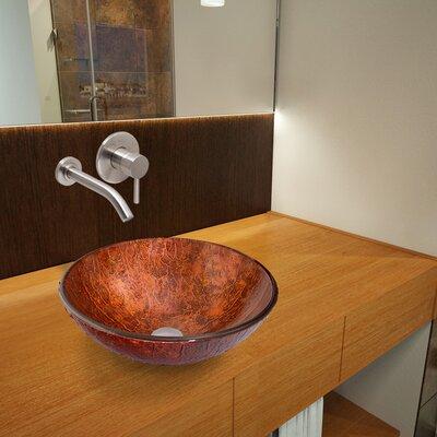 Mahogany Moon Glass Circular Vessel Bathroom Sink