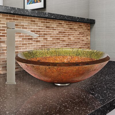 Janus Glass Circular Vessel Bathroom Sink