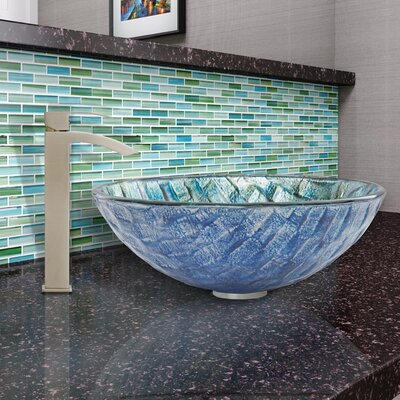 Oceania Glass Circular Vessel Bathroom Sink