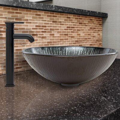Enchanted Earth Glass Circular Vessel Bathroom Sink