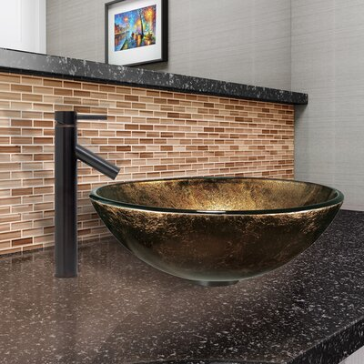 Sintra Glass Circular Vessel Bathroom Sink