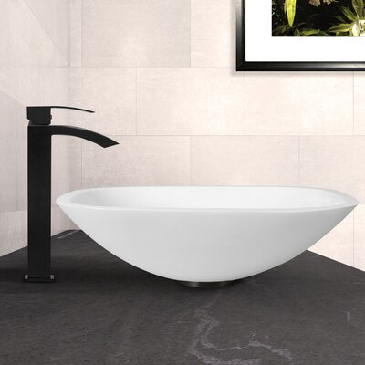 White Phoenix Stone Squre Vessel Bathroom Sink