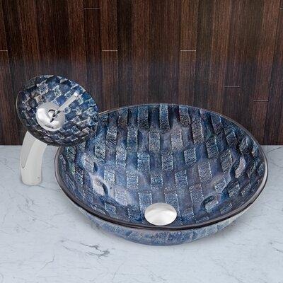 Rio Glass Circular Vessel Bathroom Sink Faucet Finish: Chrome