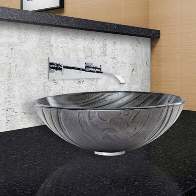 Interspace Glass Circular Vessel Bathroom Sink Faucet Finish: Chrome