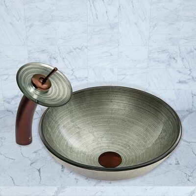Simply Silver Glass Circular Vessel Bathroom Sink Faucet Finish: Oil Rubbed Bronze