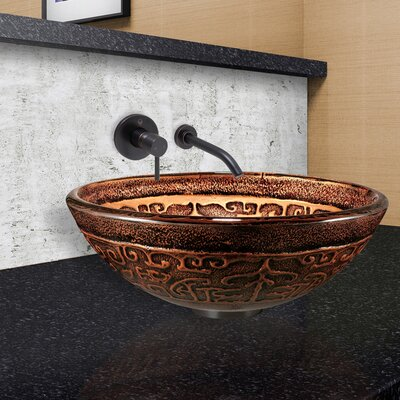 Greek Golden Circular Vessel Bathroom Sink