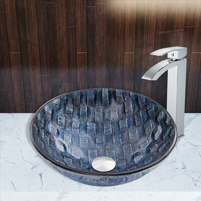 Rio Glass Circular Vessel Bathroom Sink