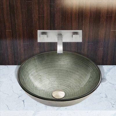 Simply Silver Glass Circular Vessel Bathroom Sink