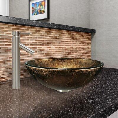 Sintra Glass Circular Vessel Bathroom Sink