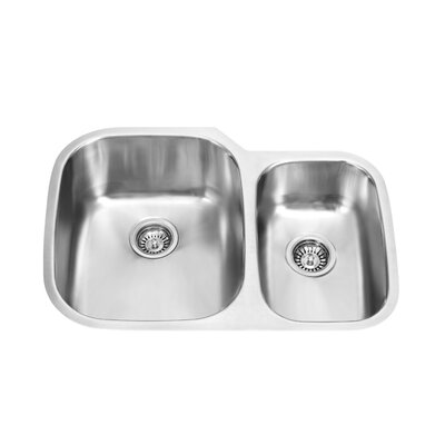 60/40 Double Bowl Stainless Steel Undermount Kitchen Sink