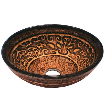 Copper Mosaic 19mm Tempered Glass Vessel Sink