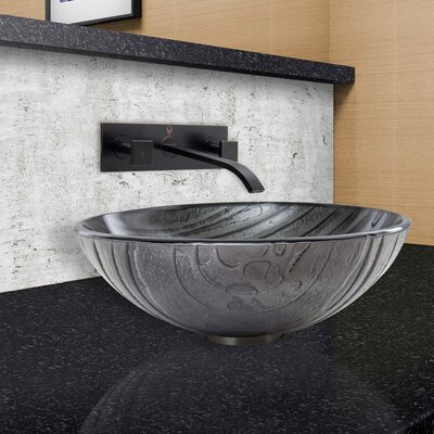Interspace Glass Circular Vessel Bathroom Sink Faucet Finish: Antique Rubbed Bronze