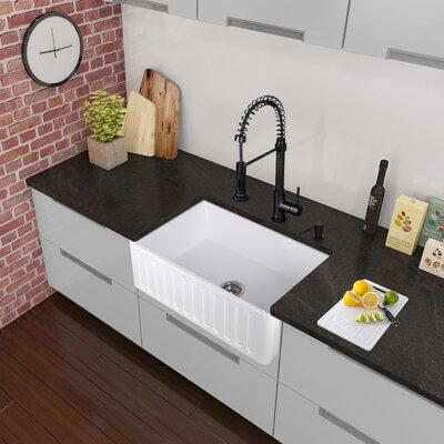 Edison Single Handle Pull-Down Spray Kitchen Faucet, Matte Black