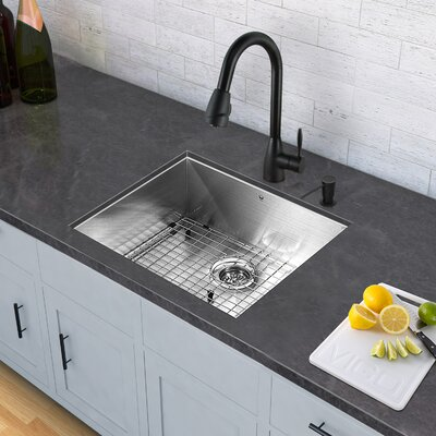 Aylesbury Single Handle Pull-Down Spray Kitchen Faucet in Matte Black VG02014MB